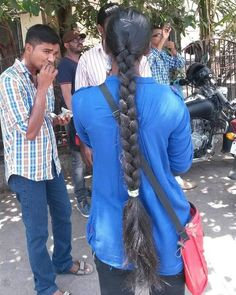 Indian Hairstyles, Girl Hairstyles, Braided Hairstyles, Indian Long Hair Braid, Thick Braid, Braids For Long Hair, Winter Jackets, Hair Girls, Actresses