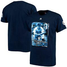 Yogi Berra New York Yankees Majestic Ain't Over Quote T-Shirt - Navy - $22.39