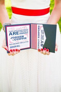 Red, White + Blue Wedding Stationery Inspiration