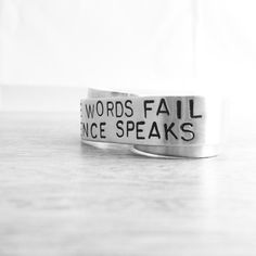 Custom Silver Double Finger Ring  Silence Speaks Two by MerCurios, $38.00