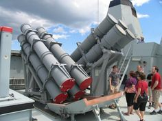 HDMS Absalon Harpoon Anti-Ship Missile Launchers