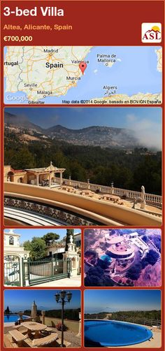 Villa for Sale in Altea, Alicante, Spain with 3 bedrooms - A Spanish Life Murcia, Great Places, Places To Go, Blue Roof, Altea, Best Hospitals, Pubs And Restaurants, Alicante Spain, International School