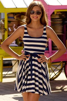 Stripes are big these days. Saw someone wearing a dress like this the other day, and it was really cute!