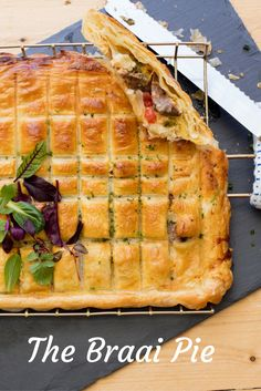 South African Braai Pie Recipe. Filled with boerewors, Braai Relish and gooey cheese, this delicious and filling braai side dish is one is for the meat lovers. Try it at your next BBQ.