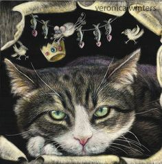 """Realistic, cute cats and dogs framed paintings made to order, your pet portraits, 5x7 or 8x10"""" scratchboard art, gift for him and her, VW10"""