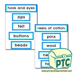 Classroom Equipment Drawer Labels & Posters - Primary Treasure Chest Teaching Activities, Teaching Resources, Teaching Ideas, Drawer Labels, Classroom Signs, Classroom Organisation, Treasure Chest, Posters, Sewing