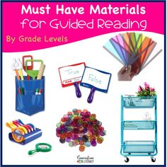 Guided Reading Must Haves Materials for Small Group and Organization Fun Classroom Activities, Word Work Activities, Classroom Organization, Organisation Ideas, Math Games, Guided Reading Table, Free Reading, Teacher Must Haves, Teacher Tips