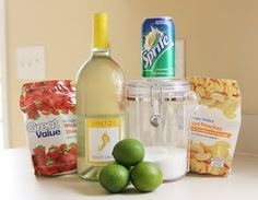 The Perfect White Wine Sangria!   Add blueberries and strawberries for red, white and blue 4th drink!