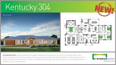 Stroud Homes would like to introduce the brand new Kentucky 304 Alpine Façade which has just been released! The Kentucky 304 is right at home on acreage land! In its ideal orientation (north up) the alfresco and living areas are bathed in warm morning light, creating a most comfortable home. With windows across the front and back of the home and three sets of huge stacking glass sliding doors – the Kentucky design truly brings the outdoors in. #stroudhomes #feelslikehome #newhome