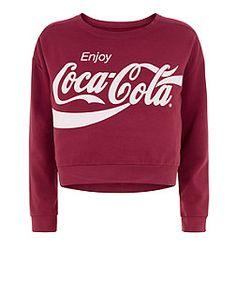 Teens Dark Red Coca-Cola Sweater | New Look