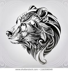 Head Bear Ornament Stock Vector (Royalty Free) 1163590549 Nandia Nandia black Discover this and millions of other royalty-free stock photos, illustrations, and vectors in the Shutterstock collection. Thousands of new, high-quality images Tribal Bear Tattoo, Tribal Tattoos, Geometric Bear Tattoo, Black Bear Tattoo, Triangle Tattoos, Arrow Tattoos, Native American Tattoos, Native American Art, Animal Tattoos