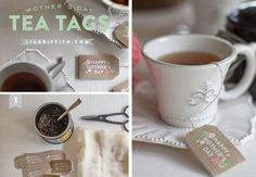 Custom Made Tea Bags | DIY Mothers Day Gift Ideas