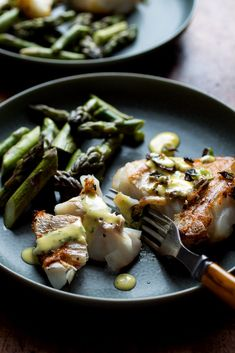 Pan-Seared Hake and Asparagus With Aioli Recipe - NYT Cooking