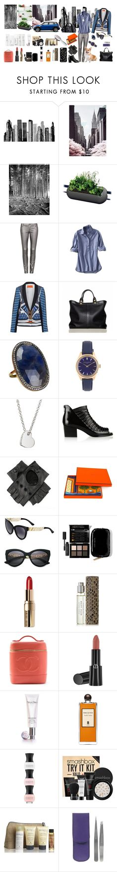 """Going for the weeck-end"" by nathalie-puex ❤ liked on Polyvore featuring RoomMates Decor, Geoffrey Agrons, Urbio, rephorm, sass & bide, Gap, Clover Canyon, Reed Krakoff, Corgi and The Gem Palace"