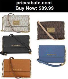 Women-Handbags-and-Purses: Michael Kors Jet Set Large Phone Crossbody 32T4GTVC3L - BUY IT NOW ONLY $89.99