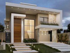 Best Modern House Design, Modern Exterior House Designs, Modern House Facades, Modern Villa Design, Duplex House Design, House Front Design, Dream House Exterior, Modern Architecture House, Small House Design