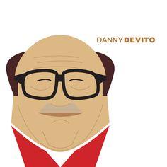 Danny De Vito retratos vectoriales de Jag Nagra