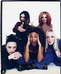 Spice Girls Union Jack Dress, Emma Bunton, Baby Spice, Hipster Looks, Geri Halliwell, Girls Rules, Spice Girls, Cool Bands, Victoria Beckham