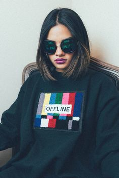 hair color / highlights /// Offline Sweatshirt