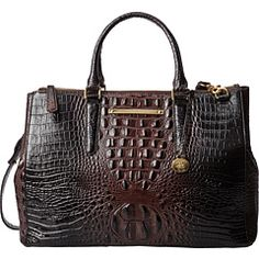 1d2429978b2f Brahmin Lincoln Satchel Top Handle Bag  Removable strap Length two interior  zip and three slip pockets