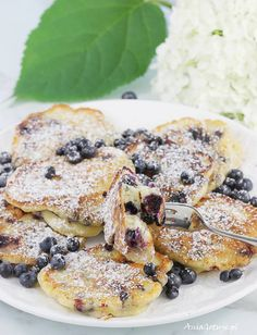 Yummy Food, Tasty, Cooking Recipes, Healthy Recipes, Blueberry Recipes, Polish Recipes, Aesthetic Food, Pancakes, Clean Eating