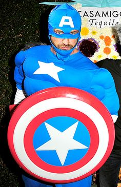 Captain Handsome! Gerard Butler donned a Captain America costume as he attended George Clooney, Rande Gerber, and Mike Meldman's annual Casamigos party.