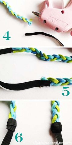 How to Make a braided hippie headband - best idea. headbands themselves or leather cord