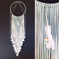 Makramee Wand Behang Seaside - Ombre von FrauLeimay auf Etsy