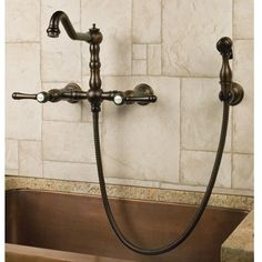 Felicity WallMount Kitchen Faucet with Side Spray Laundry room