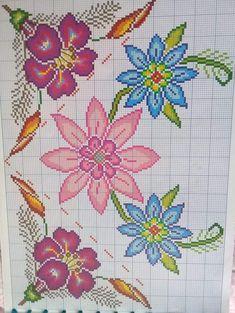 Cross Stitch Flowers, Brick Stitch, Cross Stitch Designs, Woody, Needlework, Lily, Kids Rugs, Embroidery, Pattern