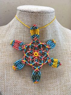 Sono entusiasta di condividere questo articolo del mio negozio #etsy: Mandala flower, macrame necklace, multicolor pendant, macrame jewelry, macrame necklace for woman, birthday's gift, boho jewel design, Boho, Etsy, Jewelry, Design, Mandalas, Jewellery Making, Jewels, Jewlery, Bohemia