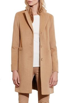 Free shipping and returns on Lauren Ralph Lauren Wool Blend Reefer Coat (Regular & Petite) at Nordstrom.com. A slim, fitted profile defines a refined menswear-inspired coat crafted from a warm wool blend in an assortment of neutral hues.