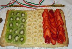 La buona cucina di Katty: Crostata di crema e frutta: Unità d'Italia!!