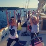 "Yoga Sails in Casco Bay: Putting the ""mast"" in namaste 