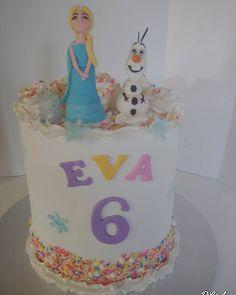 Rainbow Frozen #Rainbow #rainbowcake #frozen #Elsa #Olaf #snow #snowman #snowflake #cake #dlish Snowflake Cake, Snowflakes, Birthday Cake Girls, Birthday Cakes, Elsa Olaf, Girl Cakes, Snowman, Frozen, Rainbow