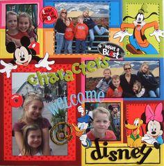 Characters Welcome at Disney - Scrapbook.com