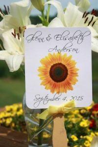 Sunflower Wedding Fans
