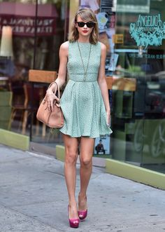 Spotted: Taylor Swift dolls up for a stroll through New York on July 22