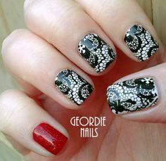 Geordie Nails: Lace & Sparkle Manicure