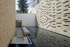 House S by Stephan Maria Lang (2) I like this stacked stone walls. Voids create and interesting rythem