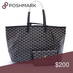 Goyard Black St. Luis Pm Tote w/Wallet $200 This is an inspired Goyard Pm Tote new never used. Looks very similar to actual Tote but this version is a fraction of the cost $200 vs. $2000 you choose! Goyard Bags Totes