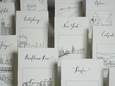 Place names for table holders