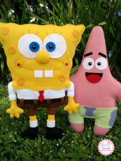 Felt Diy, Felt Crafts, Fabric Crafts, Diy And Crafts, Crafts For Kids, Pastel Bob, Spongebob Square, Crochet Square Patterns, Custo