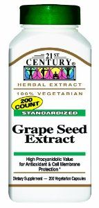 21st Century Grape Seed Extract Veg-Capsules, 200-Count by 21st Century. $17.68. It provide free radical defense from bioflavonoids.. It is an antioxidant.. It has no sugar, salt, yeast, preservatives, or artificial flavors.. From the Manufacturer                          Grape Seed Extract        100% Vegetarian formula                         No added sugar, salt, yeast, preservatives, artificial flavors or colors                       Ingredients                  Herbs  ...