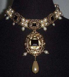 Sapphire & Sage - Renaissance & Medieval Period Portrait Painting Replication Jewelry Pieces