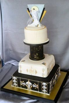 wedding cakes by franziska: Art Deco Wedding cake design