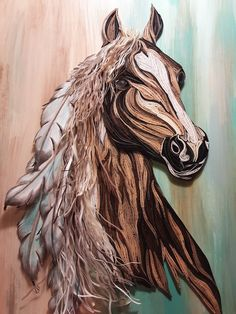 20 x 20 Quilled Horse by Djay...Tranquillity Quilling