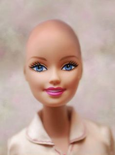 Bald is beautiful for me.  As far as I can tell Mattel did make Ella, a bald friend of Barbie in 2013,  but never made a  Bald Barbie but it's not on the market now.  It's a start!