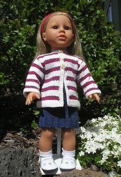 Stars & Stripes Doll Sweater - Knitting Patterns by Pauline M. Philip