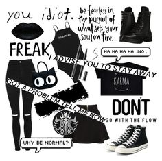 """""""black"""" by que2001 ❤ liked on Polyvore featuring Capezio, Topshop, Parker and Converse"""